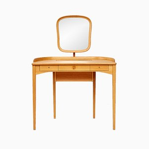 Vintage Oak Birgitta Dressing Table by Carl Malmsten for Bodafors, 1964