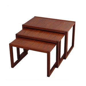 Tavolini ad incastro in teak di Kai Kristiansen per Vildbjerg, anni '60