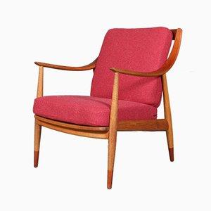 Vintage Sessel aus Teak, Eiche & Wolle von Peter Hvidt & Orla Mølgaard Nielsen für France & Søn / France & Daverkosen