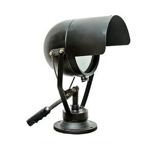 Kleine schwarze Vintage Scheinwerferlampe