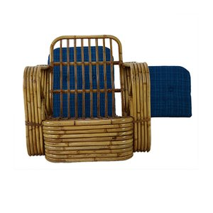 Vintage Rattan Lounge Chair by Paul Frankl