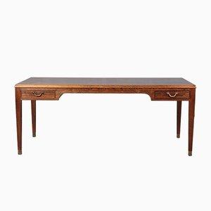 Table Basse Vintage en Palissandre et Laiton par Frits Henningsen