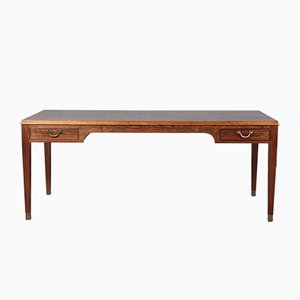 Vintage Rosewood & Brass Coffee Table by Frits Henningsen