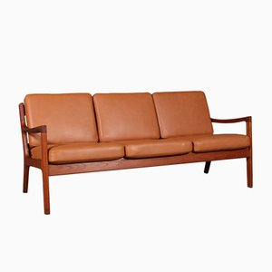 Vintage Model Senator 3-Seater Sofa by Ole Wanscher for France & Søn