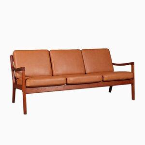 Vintage Modell Senator 3-Sitzer Sofa von Ole Wanscher für France & Søn