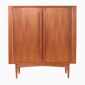 Teak Roll Shutter Highboard from Bernhard Pedersen & Søn, 1960s