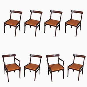 Rungstedlund Dining chairs by Ole Wanscher for Poul Jeppesens, 1970s, Set of 8