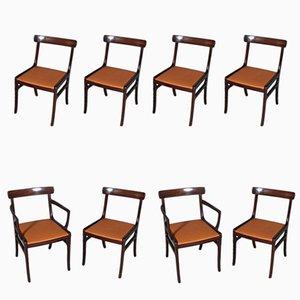 Rungstedlund Esszimmerstühle von Ole Wanscher für Poul Jeppesens, 1970er, 8er Set