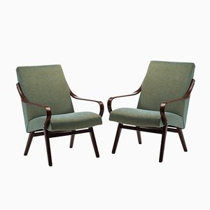 Vintage Model 53 Armchairs by Jaroslav Smidek for TON, Set of 2