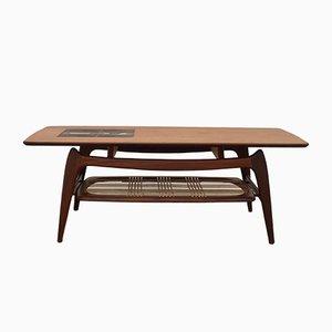 Table Basse en Teck avec Mosaïque de Jaap Ravelli par Louis Van Teeffelen pour Wébé, 1950s