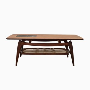 Teak Coffee Table with Jaap Ravelli Mosaic by Louis Van Teeffelen for Wébé, 1950s