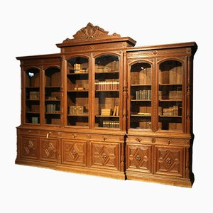 Large French Breakfront Library Bookcase