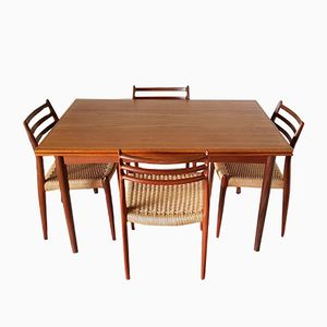 Vintage Danish Dining Set by Niels O. Møller for J.L. Møllers
