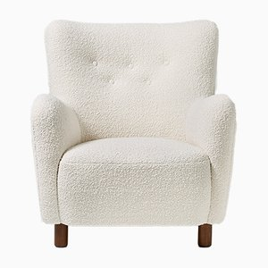 Boucle Wool Lounge Chair from FDB Mobler, 1950s