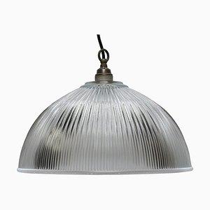 Lampe à Suspension Industrielle avec Abat-Jour en Verre, 1950s
