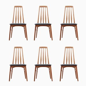 Model Eva Teak Chairs by Niels Koefoed, 1960s, Set of 6