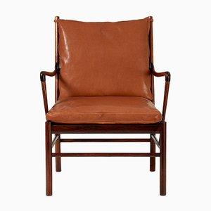Colonial Sessel mit Gestell aus Palisander von Ole Wanscher für Poul Jeppesen, 1949