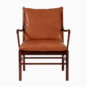 Rosewood Colonial Lounge Chair by Ole Wanscher for Poul Jeppesen, 1949