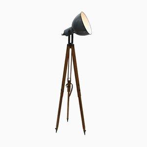 Dreibeinige Stehlampe aus Holz, 1950er