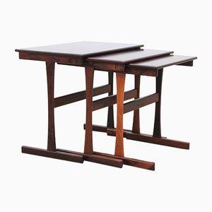 Tavolini ad incastro in palissandro brasiliano, Scandinavia, anni '60