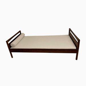 Sofá cama danés Mid-Century de palisandro de Mobelfabrik Horsens, años 60