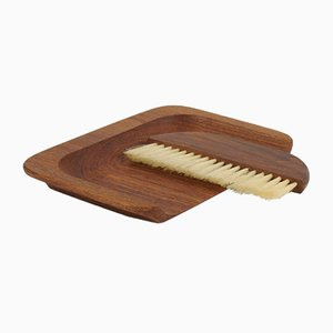 Danish Teak Crumb Brush and Pan Set from ESA, 1960s