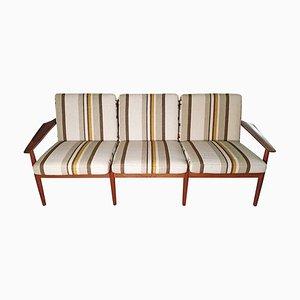 Modernes dänisches 3-Sitzer Sofa mit Gestell aus Teak von Arne Vodder für Glostrup, 1960er