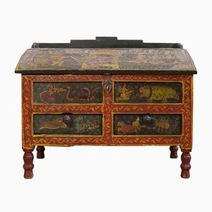 Indian Hand-Painted Chest, 1900s