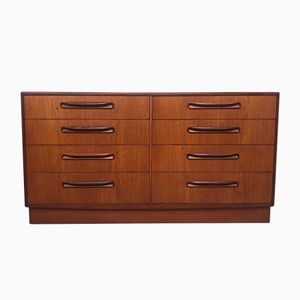 Mid-Century Teak Double Chest of Drawers from G-Plan
