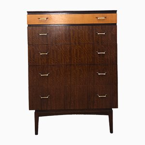 Vintage Teak Tallboy from Golden Key