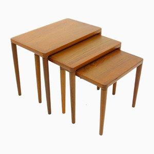 Tavolini di HW Klein per Bramin, anni '70, set di 3