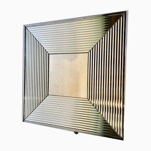 Square Chrome Mirror, 1980s