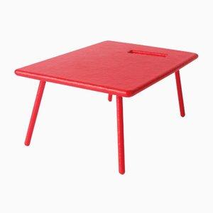 Mesa infantil de fibra de vidrio roja, años 70