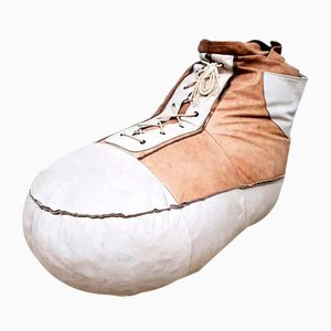 Vintage Leather Sneaker Beanbag from De Sede