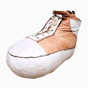 Vintage Sneaker Sitzsack aus Leder von De Sede