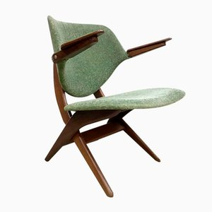 Vintage Dutch Pelican Armchair by Louis van Teeffelen for Webe