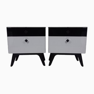 Vintage Nightstands by Jindřich Halabala for UP Závody, 1951, Set of 2