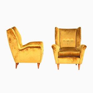 Vintage Modell 512 Sessel von Gio Ponti für Bergamo, 2er Set