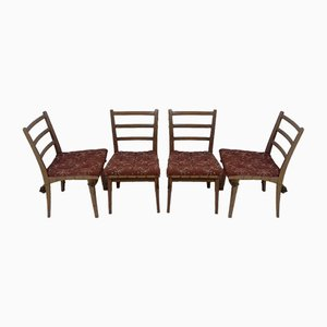 Dining Chairs by Jan Vaněk, 1950s, Set of 4