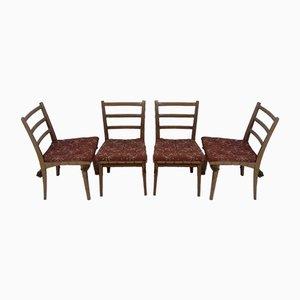 Sedie da pranzo di Jan Vaněk, anni '50, set di 4