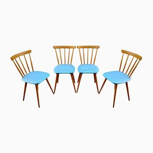 Skandinavische Stühle, 1960, 4er Set