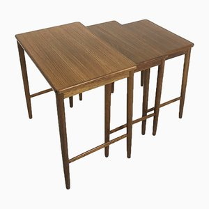 Mid-Century German Walnut Nesting Tables from Opal Möbel