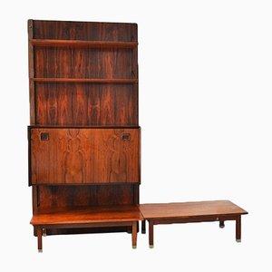 Mueble de pared vintage de palisandro de TopForm, años 60