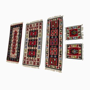 Vintage Wool Kilim Rugs, 1960s, Set of 5