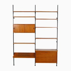 Scandinavian No. 2 Shelving Unit with Reversible Sliding Doors from Pira, 1960s