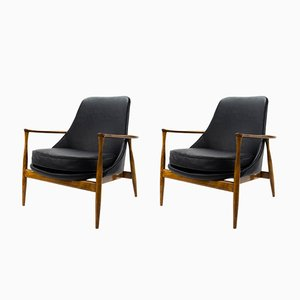 Vintage Danish Armchairs by Ib Kofod-Larsen, Set of 2