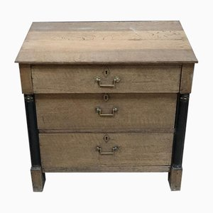 Antique Empire French Bleached Oak Chest of Drawers