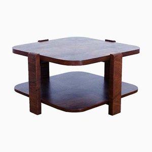 Tavolino da caffè Art Déco in noce