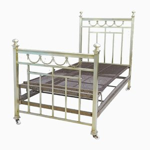 Antique French Brass Napoleon III Single Bed