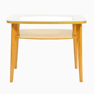 Table Basse Vintage avec Plateau en Verre